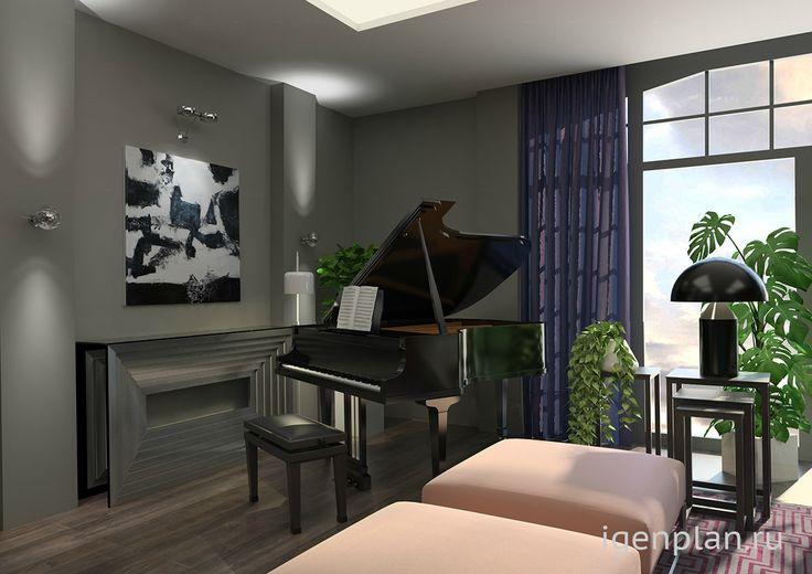 http://igenplan.ru/interior/kvartira-kottedzh/musikzimmer5164/ Квартира в современном стиле. Дизанйер: Юлия Моисеева. Необычно.