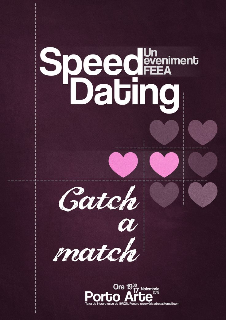 Organising a speed dating event