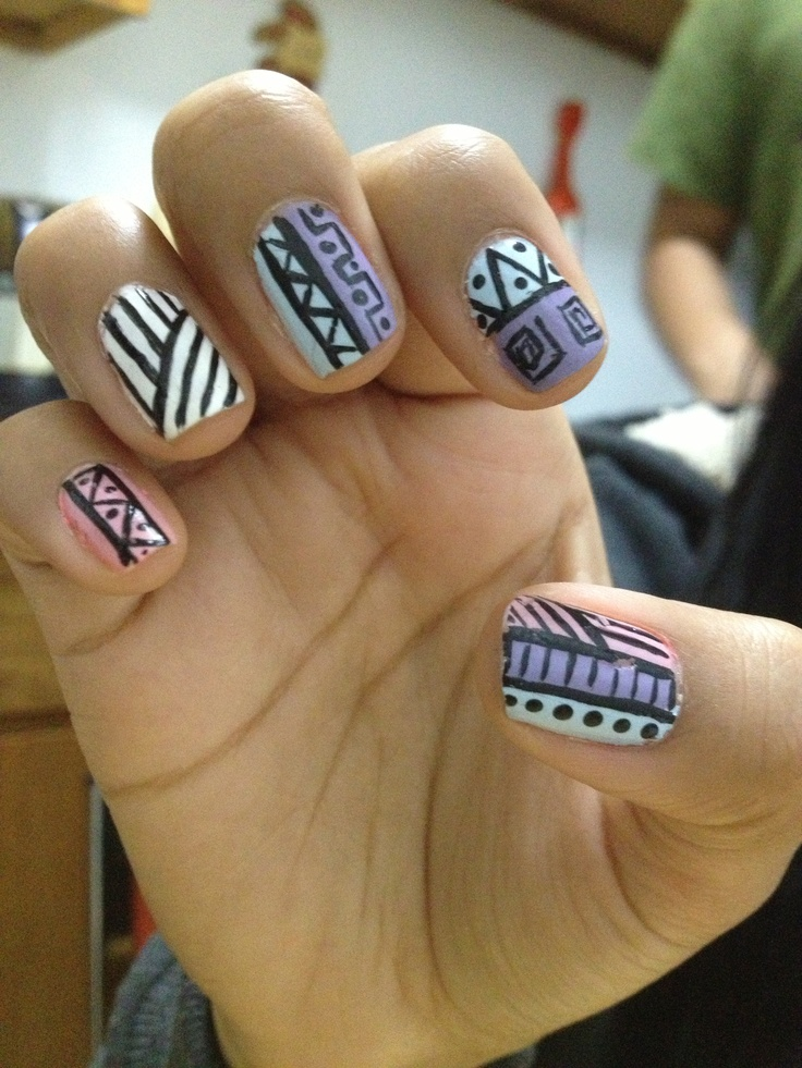 trending tribal nail design