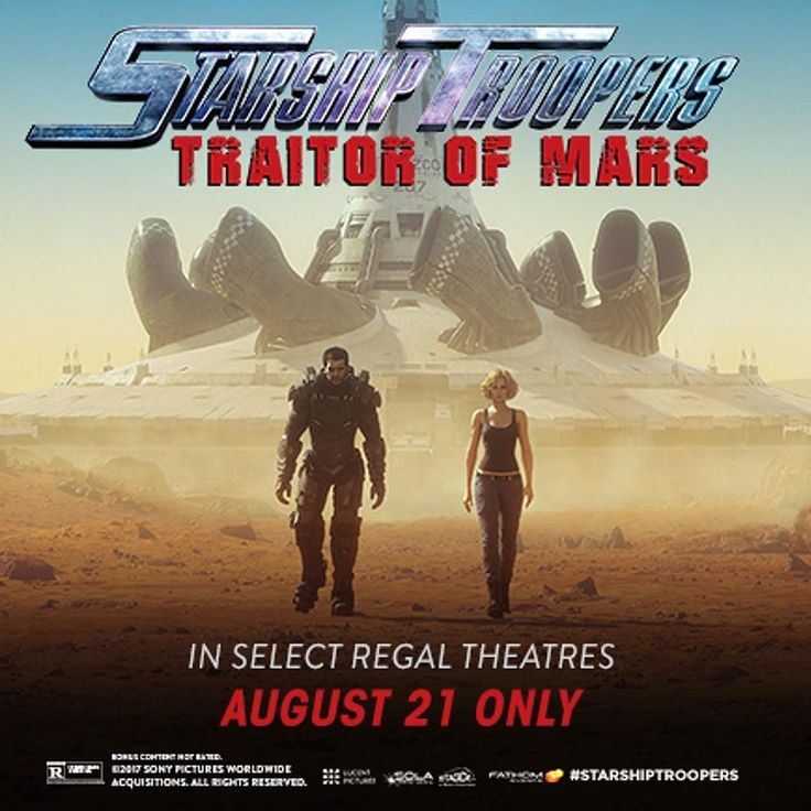 It's a beautiful day to KILL BUGS! The Starship Troopers return in #TraitorOfMars coming to cinemas for one night August 21st. #LinkInBio