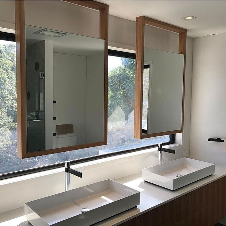 Double Alape basins and Milli Axon mixers used beautifully by @skyringarch. Perfect for getting ready in the mornings without getting in someone else's way!