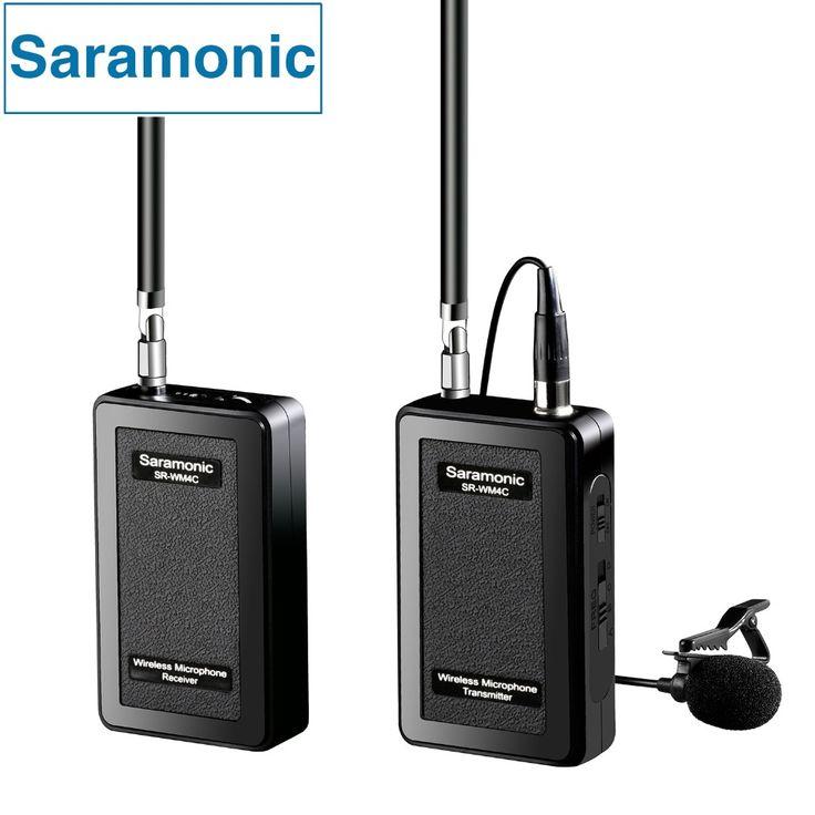 Saramonic SR-WM4C Lavalier Wireless Microphone for Canon Nikon Sony DSLR Cameras Panasonic Camcorder GoPro Hero 4 3 3+ Action //Price: $149.93     #gadget
