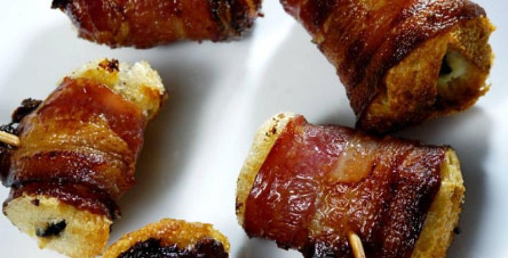 Baconloff med ost og oliven