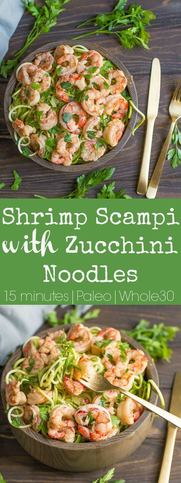 Shrimp Scampi with Zucchini Noodles (Paleo, Whole30)