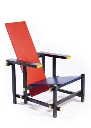 A cadeira Red and Blue foi desenhada pelo arquiteto Gerrit Thomas Rietveld (1888-1964)