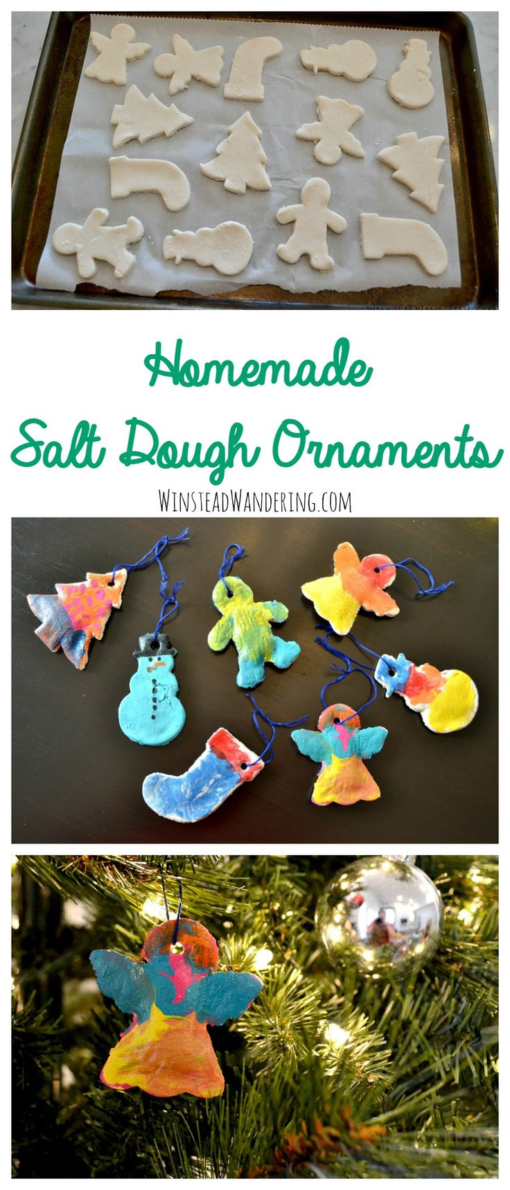 DIY Craft: Homemade salt dough ornaments couldn't be simpler to make. With only three ingredients, they're the perfect easy craft for kids of all ages.
