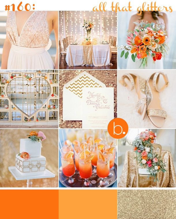 #160: all that glitters - orange and gold. weddings @thepowerscourt