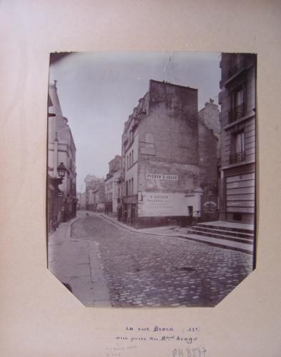 Perspective de la rue Broca, vue prise du boulevard Arago, 13ème arrondissement, Paris | Paris Musées