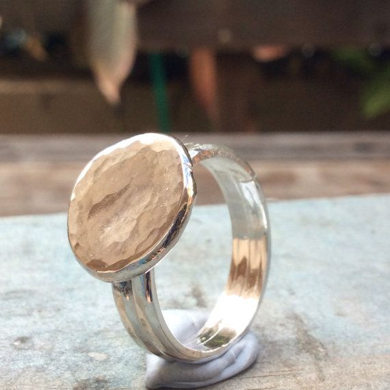 FREESHIPPING hammered silver ring 100% sterling by SilverPinions