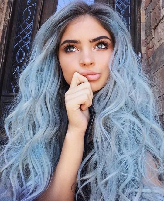 mermaid blue hair.
