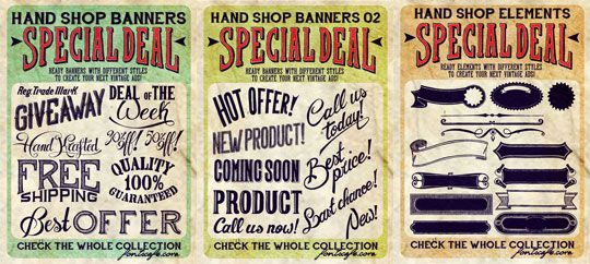 """Download """"Hand Shop Extended Pack"""" fonts 