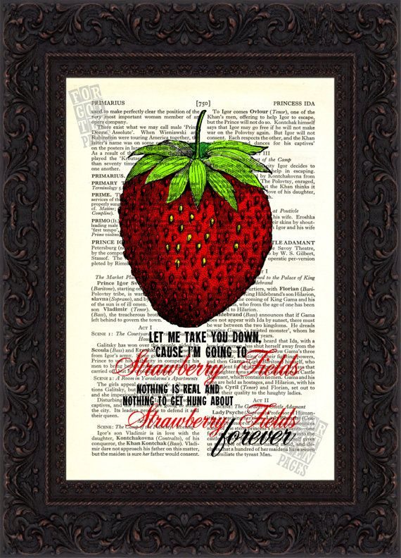 The Beatles Strawberry Fields Forever on by ForgottenPages on Etsy, $8.00
