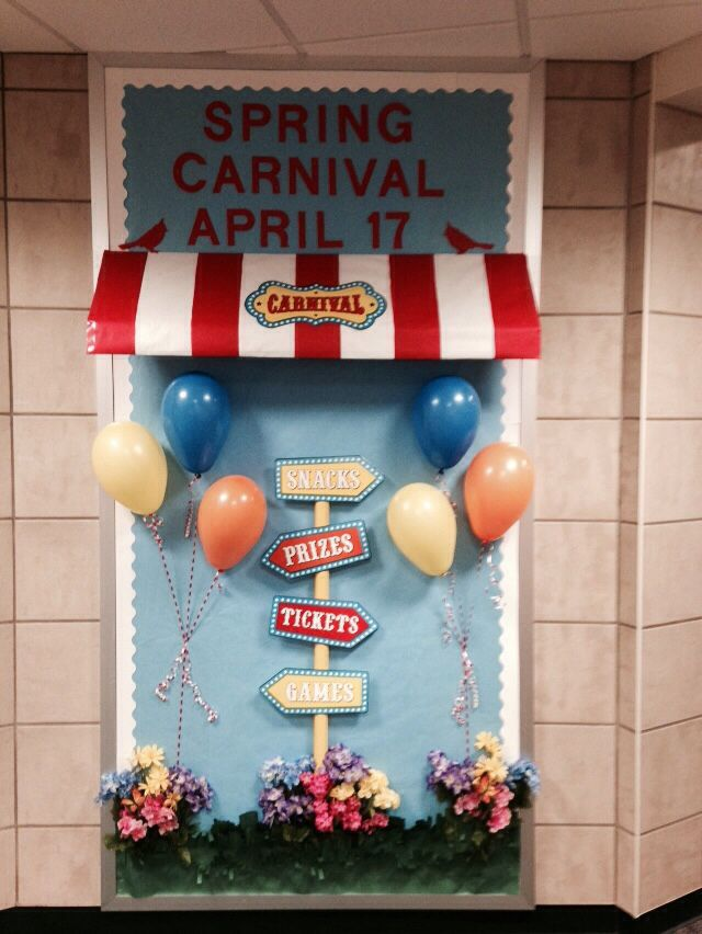 Our Spring Carnival Bulletin board! Thank you Angela & Ramona!
