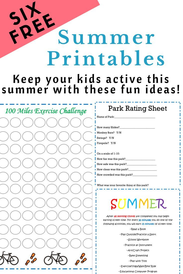 Free Summer Printables Fun Printables To Keep Your Kids Having