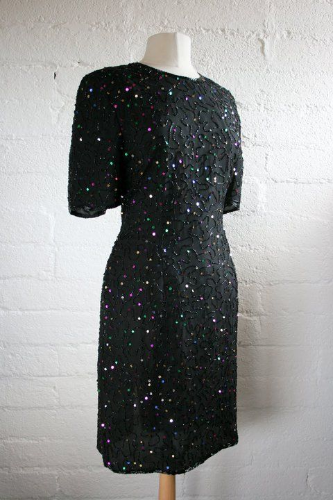 Sequinned silk