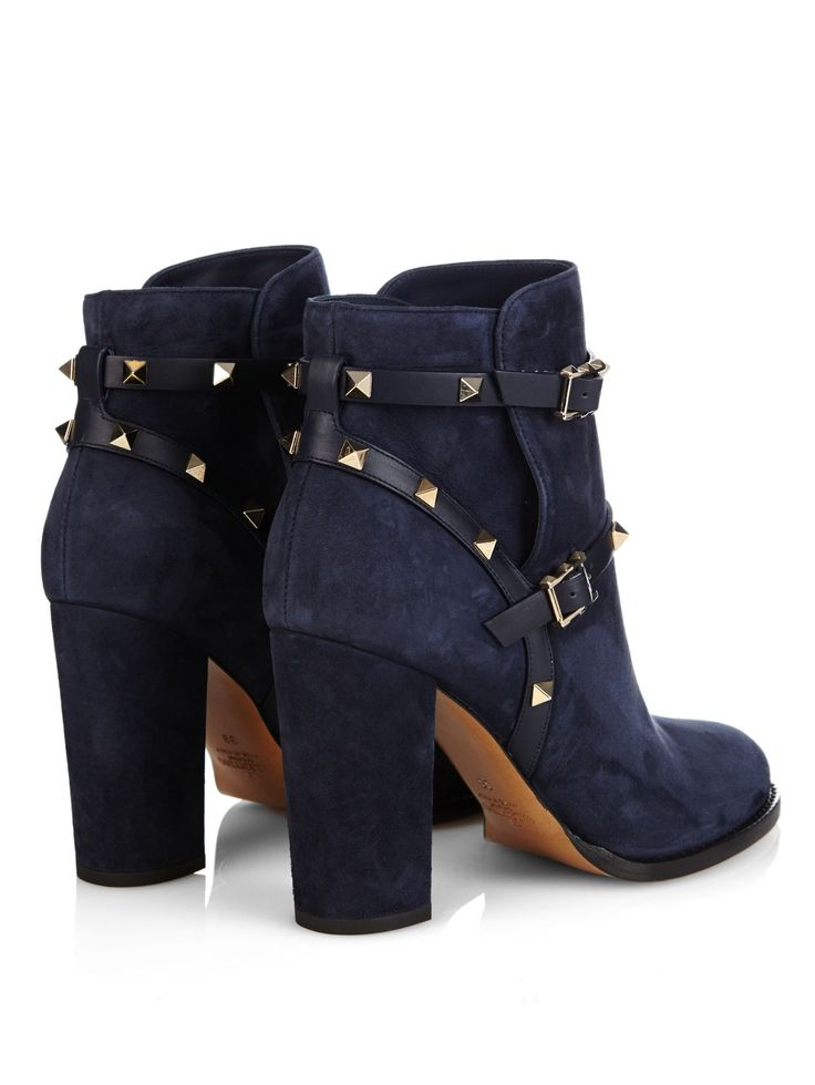 Rockstud 100mm suede ankle boots | Valentino | MATCHESFASHION.COM UK