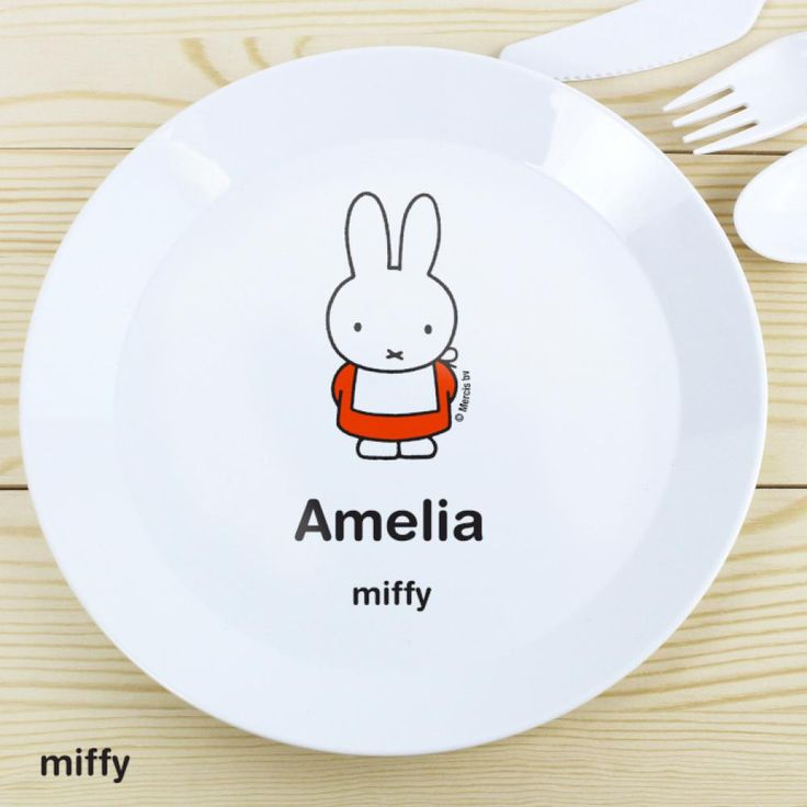 //justtherightgift.co.uk/personalised-miffy-plastic-  sc 1 st  Pinterest & 7 best Personalised Plastic Dinner Plates for Kids UK images on ...