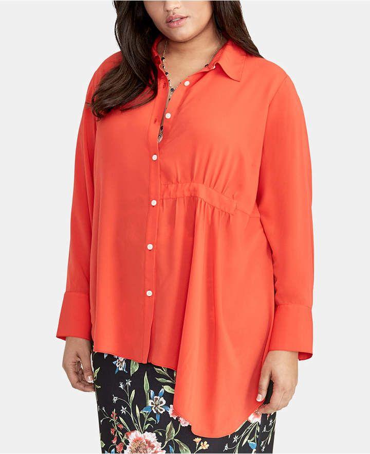Trendy Plus Size Asymmetrical-Hem Shirt