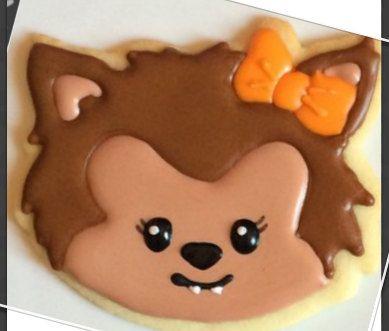 Werewolf girl cookie cutter, Halloween cookie cutter, Kawaii cookie cutter