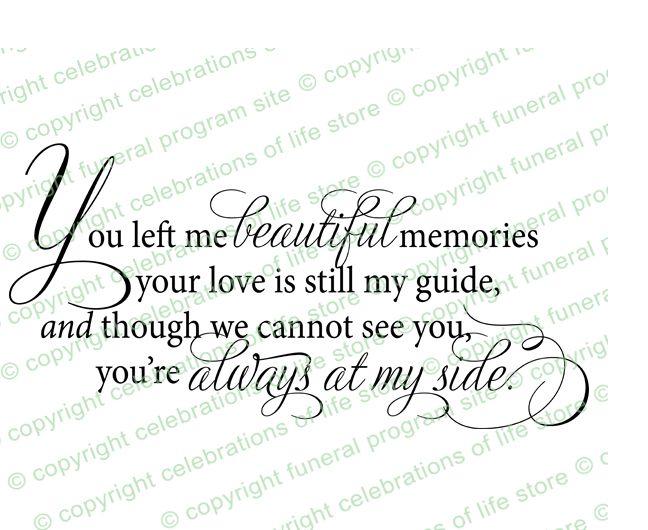 Funeral Poems : Beautiful Memories Funeral Poem Elegant Title