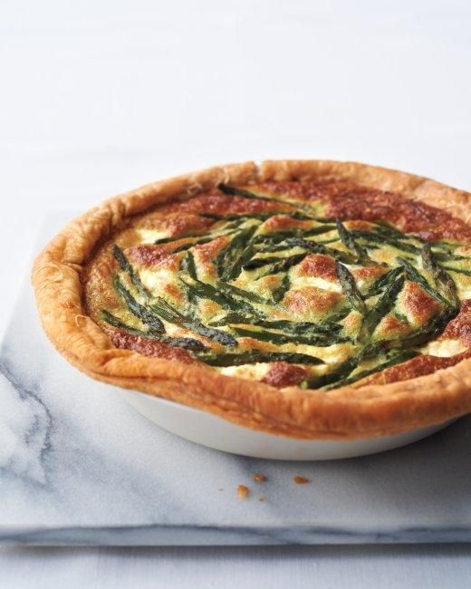 Easter Side Dishes // Asparagus Custard Tart Recipe