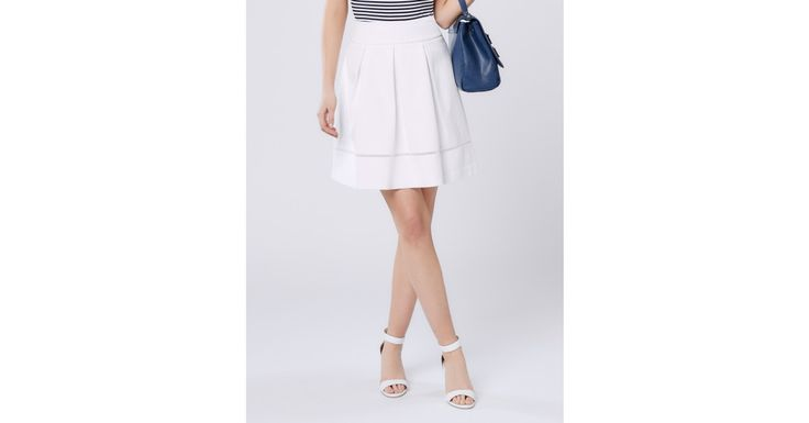 Review Australia - Pick A Posy Skirt White