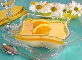 Gelado de baunilha e laranja