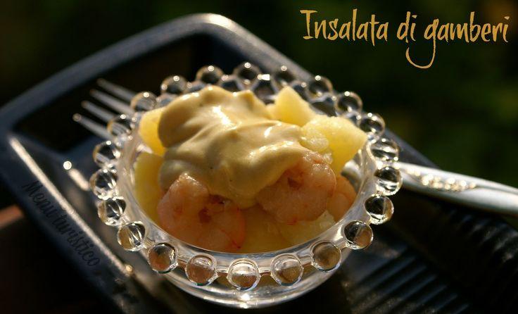 Un'insalata piatto unico: gamberetti e patate con maionese alla soia e yogurt