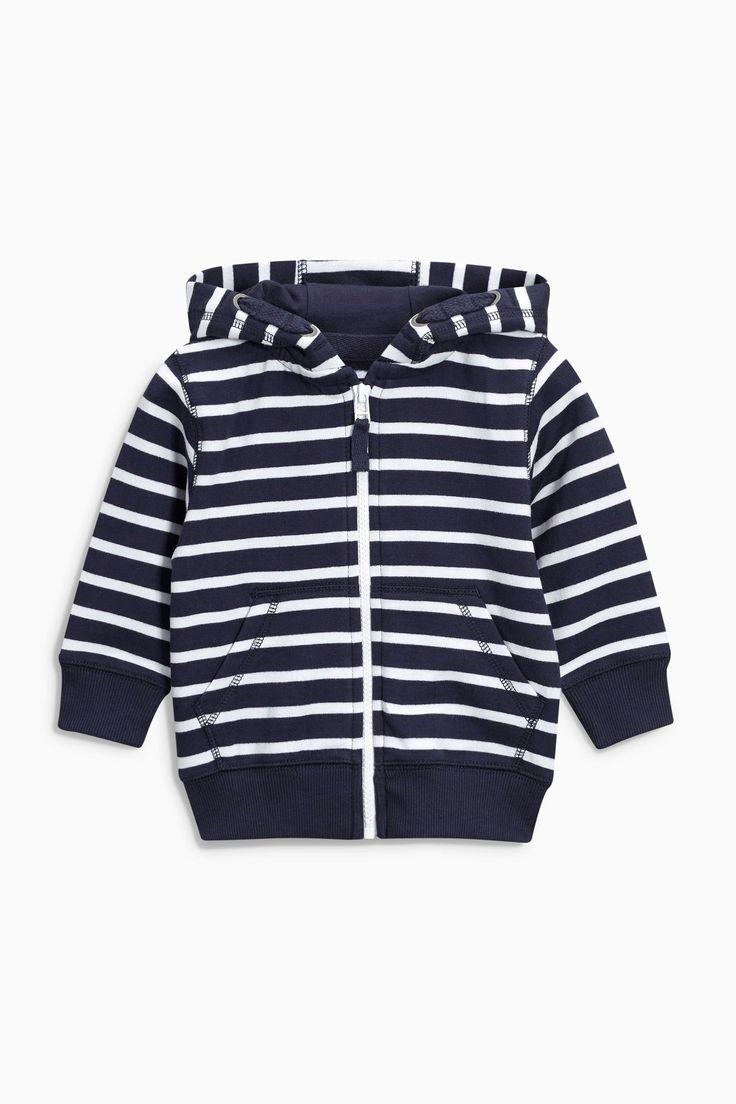 Buy Navy Essential Stripe Zip Through (3mths-6yrs) from the Next UK online shop