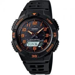 Solar Ana Digi Watch Regular price$ 49.95 Add to Cart Casio Tough Solar Ana Digi Watch  Casio Tough Solar Ana-Digi Watch ... Utilizing a unique Self- Charging solar power system, this sporty analog/digital combination model provides plenty of functionality. A host of features such as 48-city world time, 5 alarms, stopwatch and dual countdown timers make this a versatile timepiece for almost any sport outing. Silver stainless steel band analog and digtal watch with black face. 100M water…