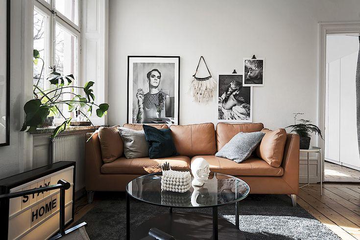 Ikea 'Stockholm' sofa in cognac