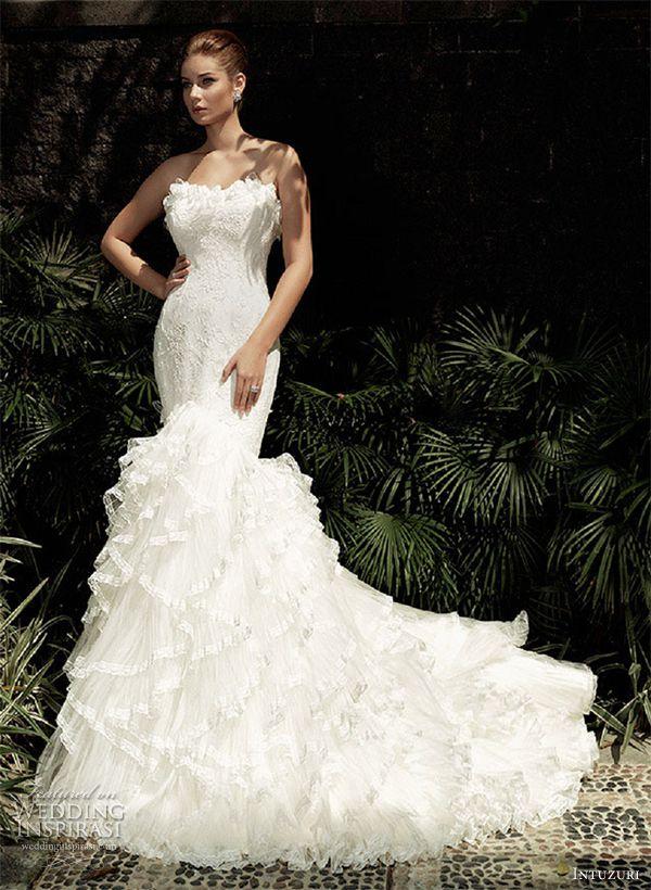 intuzuri wedding dress 2013 amaris strapless mermaid bridal gown dresses