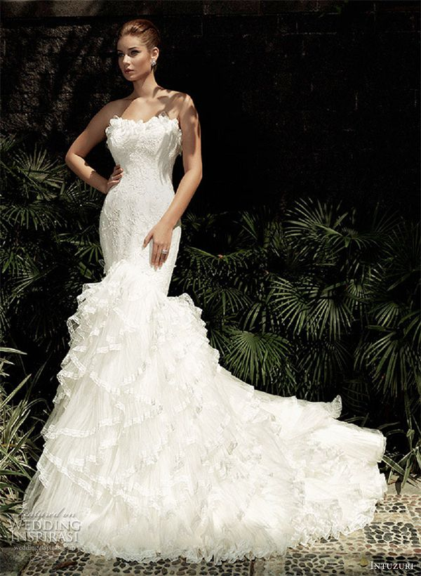 intuzuri wedding dress 2013 amaris strapless mermaid bridal gown dresses