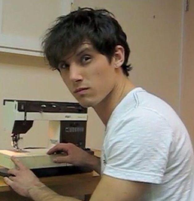 Matt Webb and a...sewing machine?