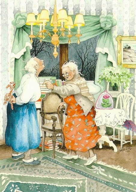 Comics - Inge Look, Grannies and Candy Canes by 9teen87's Postcards, via Flickr