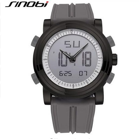 SINOBI Brand Dual Display Sport Watch Men Watch Waterproof Digital Quartz Watch LED Watches Hour relogio masculino reloj hombre Like if you remember Get it here