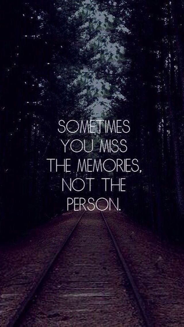 This is true to me I miss the time we spent together, not the person. #friends #quote