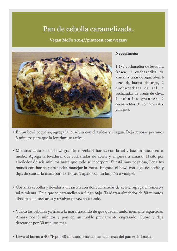 Día 23 del VeganMoFo: Pan de cebolla caramelizada.