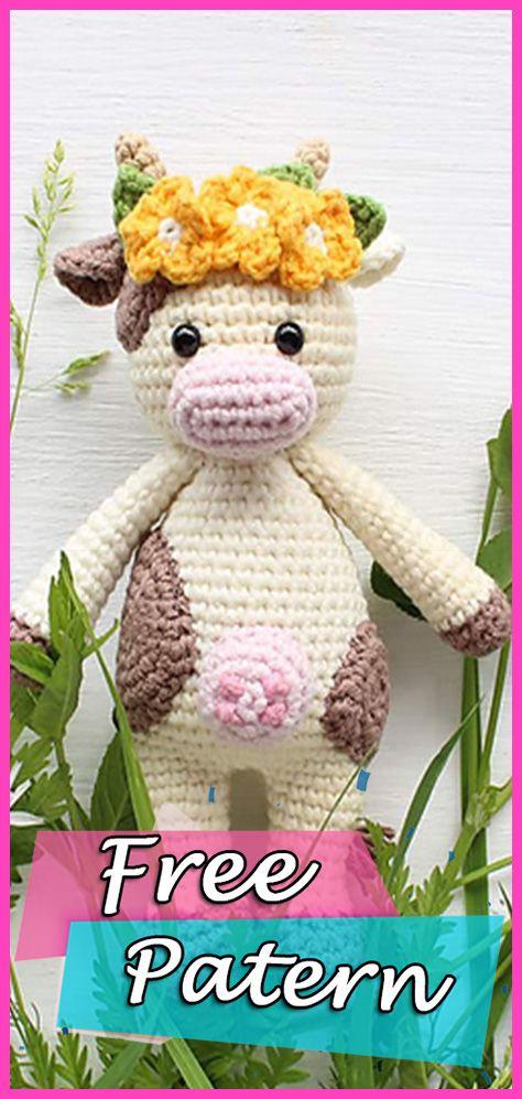 Cuddle Me Cow Amigurumi Free Pattern Crochet – DIY   Amigurumi ...