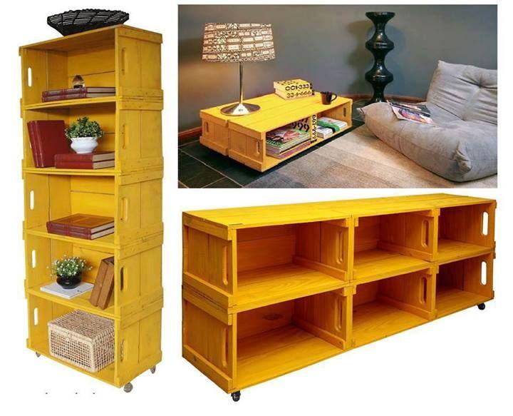 Estantes con cajas de madera!! Las necesito cajas!!! :'(
