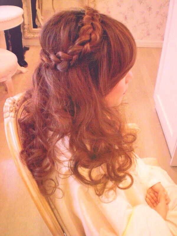 結婚式の髪型 パート2  #Wedding #hiar #Arrangement #ヘアーアレンジ #アップ #japan #japanese #me #girl
