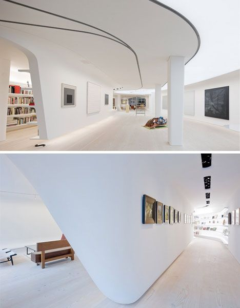 Pinterest & White Interior + Curved Walls \u003d Wild Art Collector Condo | CURVES in ...