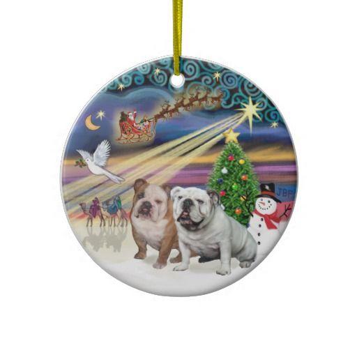 20 Best English Bulldog Christmas Ornaments Images On
