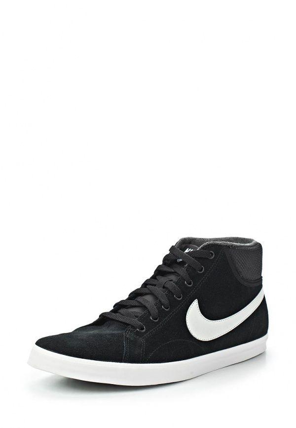 Кеды Nike / Найк мужские. Цвет: черный. Материал: искусственный материал, спилок. Сезон: Весна-лето 2014. С бесплатной доставкой и примеркой на Lamoda. http://j.mp/1s0DxAn