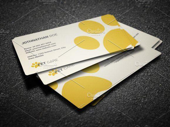 Pet Care Business Card Business Card Template Design Business Cards Creative Templates Free Business Card Design