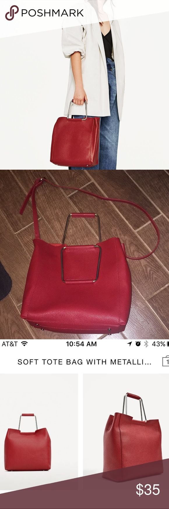 Zara Tote bag Zara Tote bag. Used once still in excellent condition. Zara Bags Totes