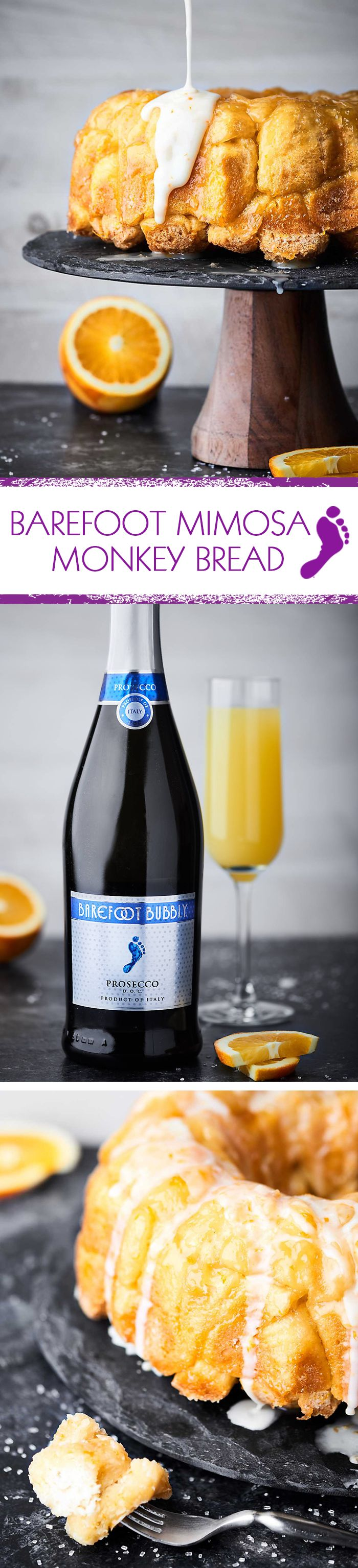 Barefoot Wine partnered with Show Me the Yummy to drench biscuits in Prosecco and turn them into Mimosa Monkey Bread. Click through for the recipe!