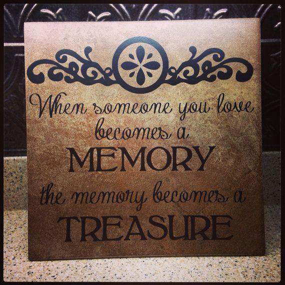 Memory tile 12 x 12 custom made to order personalized great gift funeral memory on Etsy, $20.00