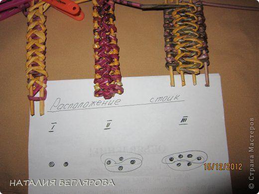 Поделка изделие Плетение Образцы плетения двойных ручек и маленькая коробочка Трубочки бумажные фото 2