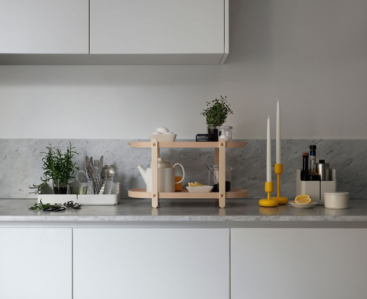 Iittala has launched series of small accessories for the home. This versatile collection includes designs that help simplify modern living; organising possessions becomes a joy rather than a chore. The two perfectly formed designs include a shelf, Kerros, that transforms into a table or a tray and a playful, practical storage system for walls, Aitio.